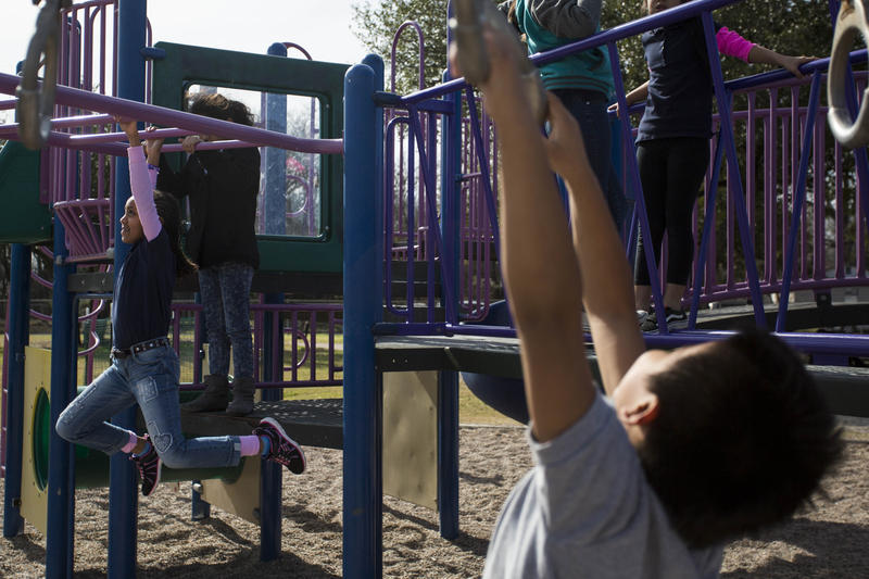 Students at Ortega Elementary School now enjoy thirty minutes of unstructured recess as part of a new district policy.