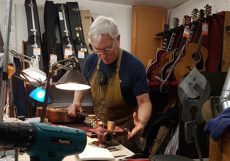 Mark Erlewine in his workshop.