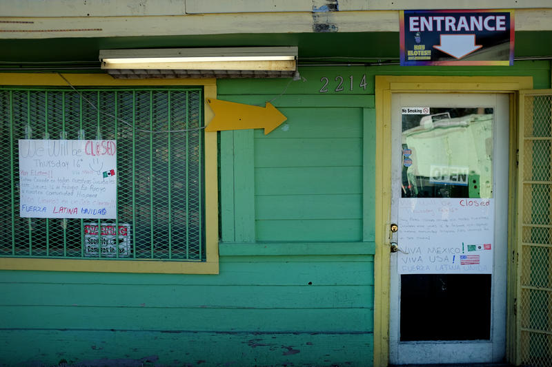 """Hay Elotes on East 7th Street is among the restaurants closed Thursday for """"Day Without Immigrants."""""""