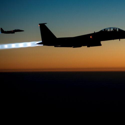 U.S. F-15E fighter planes