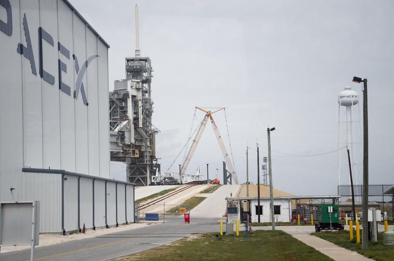 The SpaceX complex at Kennedy Space Center in Florida.
