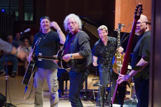 Arlo Guthrie plays in Bethell Hall at St. David's Episcopal Church in downtown Austin, during South by Southwest in 2012.