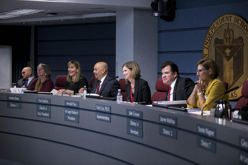 The Austin School Board at a November 2016 meeting.