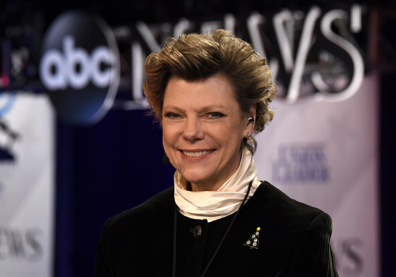 Cokie Roberts at the 2015 Democratic Presidential debate at St. Anselm College in Manchester, N.H.