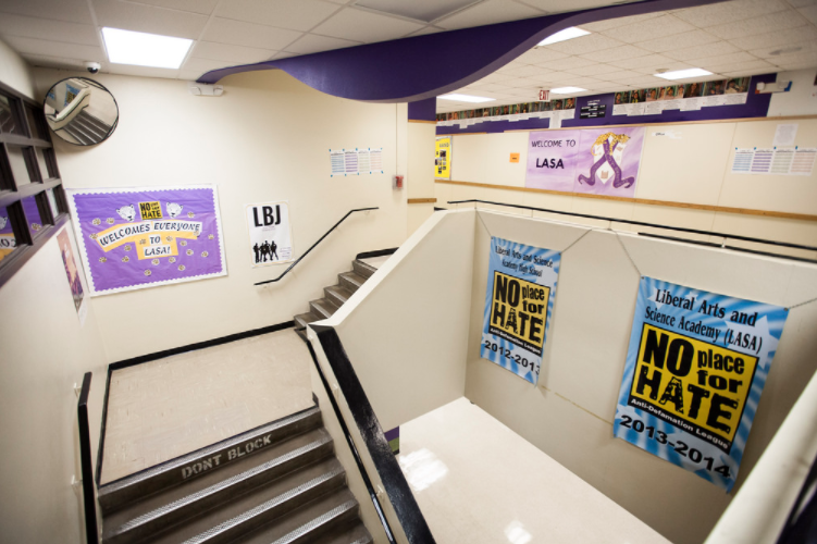 LBJ and LASA are two separate high schools on one campus. Students are trying to better connect with one another.