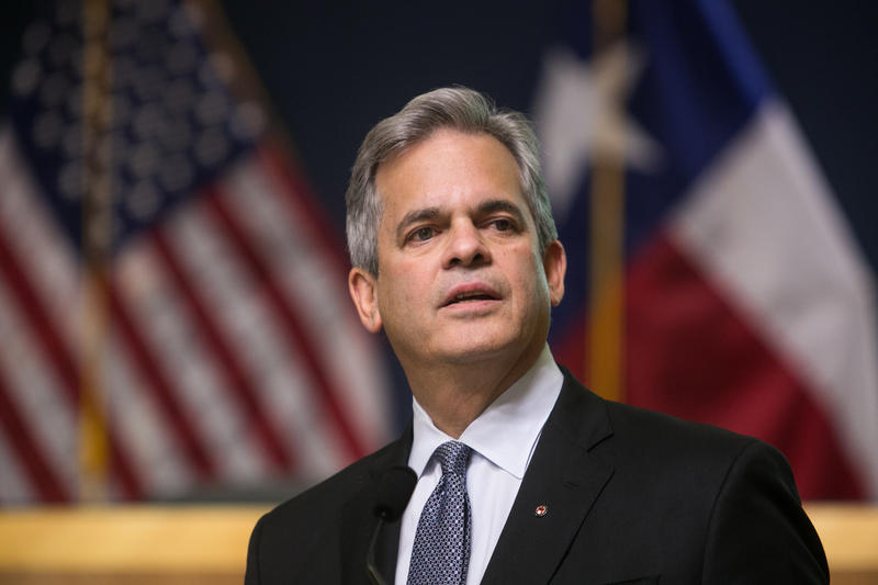 Mayor Steve Adler at Austin City Hall on Jan. 29, 2017.