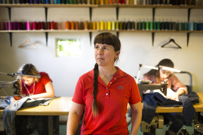 "Kathie Sever is the owner of Fort Lonesome, a chain-stitch embroidery business that also makes custom Western wear. She says Western wear feels uniquely American, like a nation uniform. ""I think we crave that."""