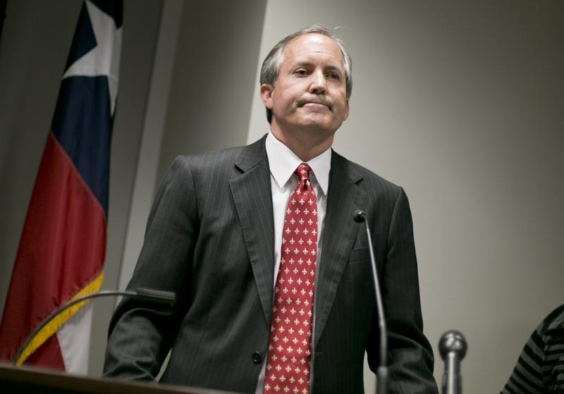 Texas Attorney General Ken Paxton at a press conference to recognize January as Human Trafficking Awareness Month on Jan. 12.