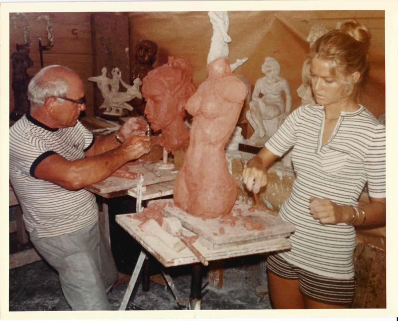 Charles Umlauf and Farrah Fawcett