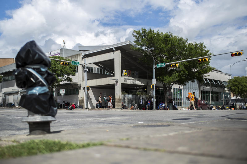The area around the Austin Resource Center for the Homeless downtown saw an uptick in the population of Austinites experiencing homelessness, according to a survey.