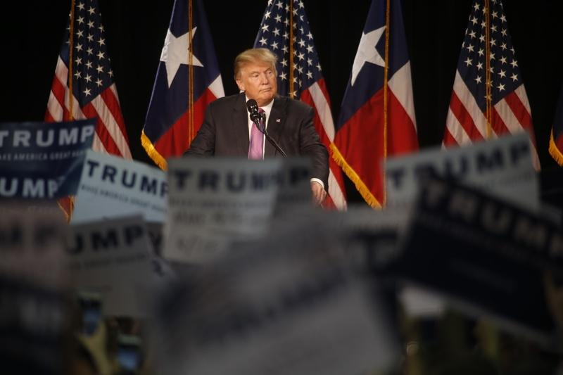 Donald Trump speaks at a campaign event in The Woodlands, Texas, on June 17, 2016.