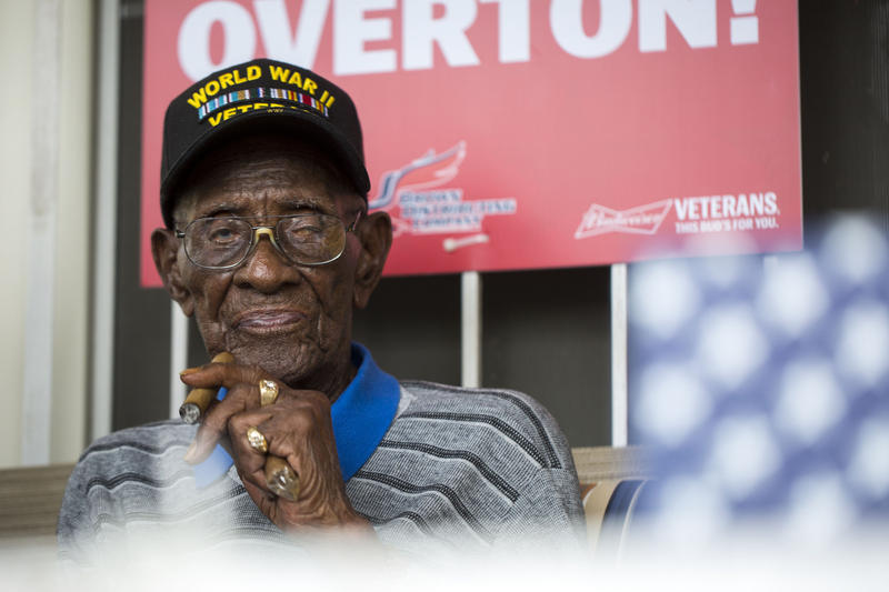 Richard Overton, America's oldest living combat veteran, celebrated his 111th birthday on May 11, 2017.