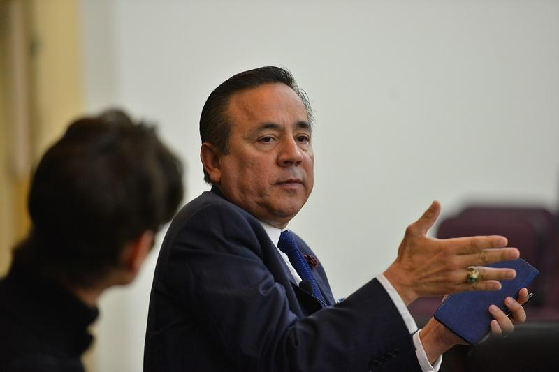 State Sen. Carlos Uresti, D-San Antonio, at a Texas Tribune legislative preview in December. His office was raided by the FBI on Feb. 16.
