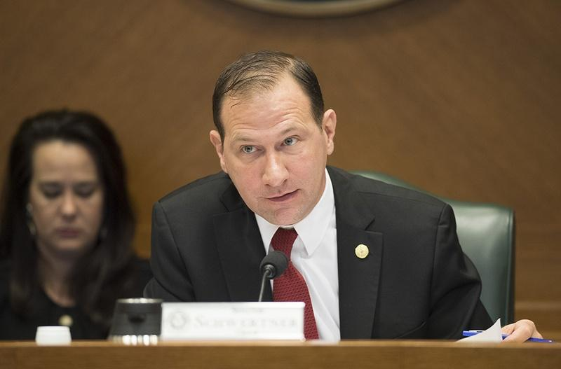"State Sen. Charles Schwertner, R-Georgetown, chairs the Senate Health and Human Services Committee on March 27.  The committee is consider several bills related to long-term care facilities including SB 1130 by Sen. Juan ""Chuy"" Hinojosa and others"