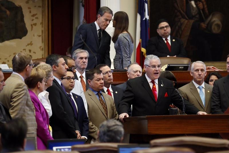 State Rep. Dan Huberty, R-Houston, chairman of the House Public Education Committee, speaks about his school finance bill on May 24, 2017.