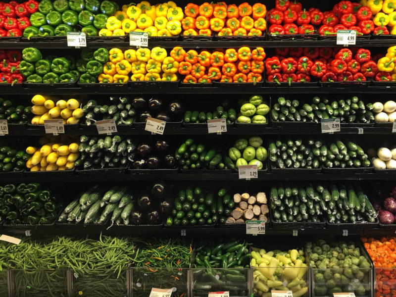 Produce options at the Whole Foods flagship store in Austin.