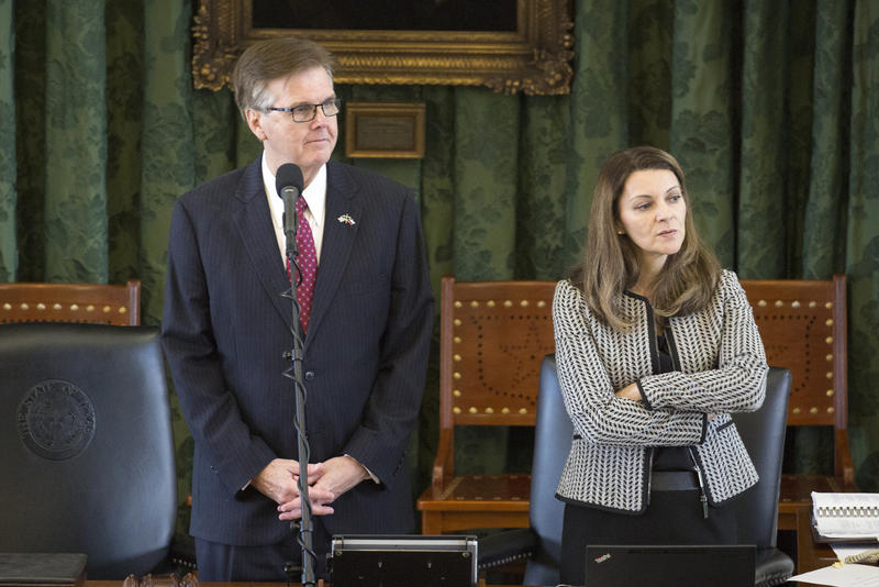 Lt. Gov. Dan Patrick on the opening day of the special session earlier this month.