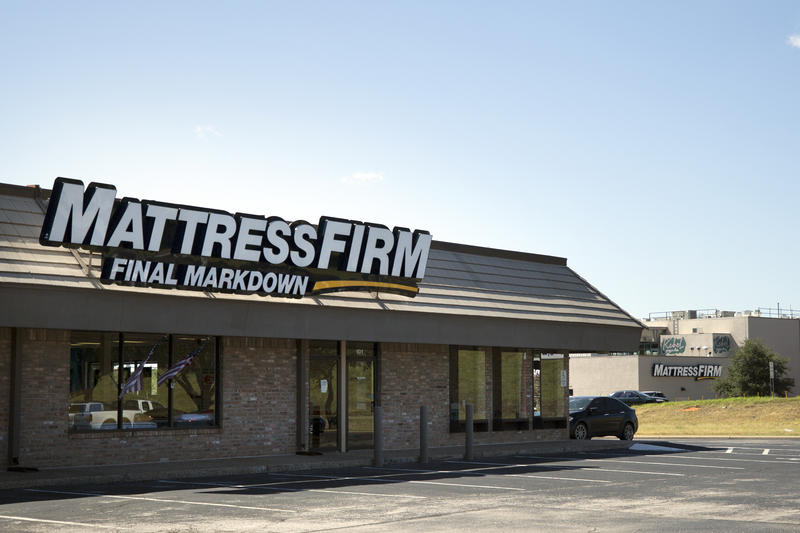 A Mattress Firm in North Austin, just across Anderson Lane from the Mattress Firm Final Markdown store in the foreground.