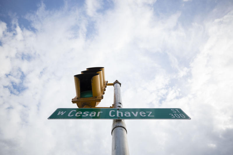 For newcomers expecting a First Street where Cesar Chavez Street is located technically Cesar & Cesar Chavez | KUT