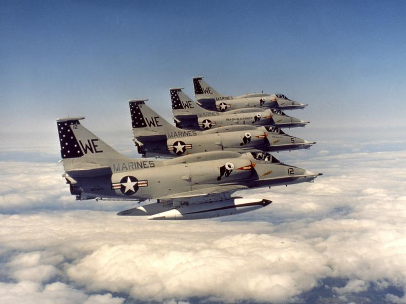 The A4 Skyhawk is among the planes that a private air force could fly in Afghanistan.