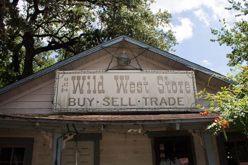 Ulli Johnston's Wild West boot store in Wimberley.