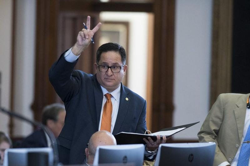 State Rep. Larry Gonzales, R-Round Rock, votes no on an amendment to Senate Bill 12, the Texas Department of Transportation sunset bill.