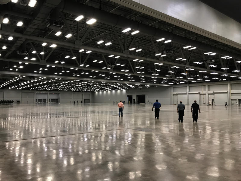 The city is preparing the Convention Center for up to 2,500 evacuees.