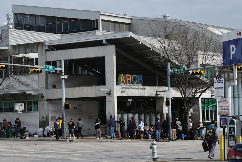 Service providers launched a 30-day program last month aimed at reducing the loitering around the Austin Resource Center for the Homeless.