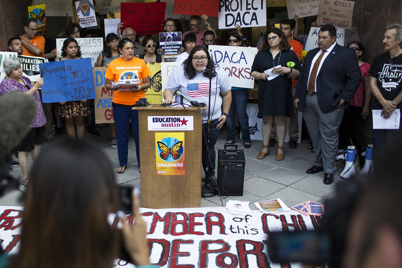 Karen Reyes, was brought to the U.S. as a child and is covered under DACA.