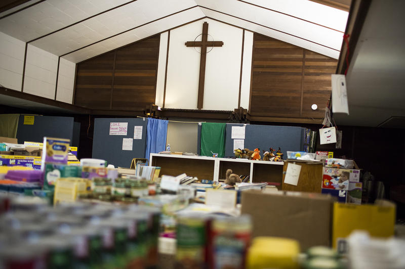 Faith Presbyterian Church In South Austin Is Filled With Donated Food And  Supplies For Counter Balance: ATX.