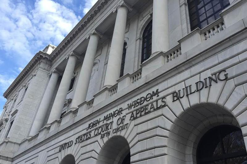 The 5th U.S. Circuit Court of Appeals building in New Orleans.
