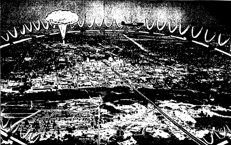 A photo illustration from an April 1954 edition of The Austin American-Statesman.