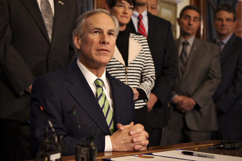 Greg Abbott says Texas lawmakers need to fight for federal hurricane relief.
