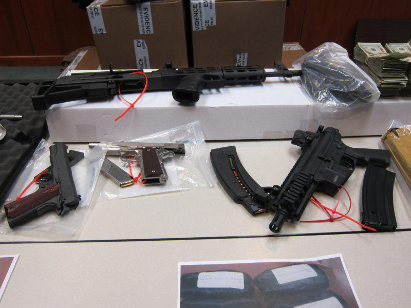 Weapons seized by Austin police.