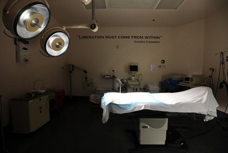A surgery room at the Whole Woman's Health Surgical Center in San Antonio.