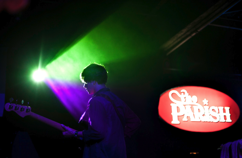 Beach Fossils performing at the Parish during SXSW 2013.