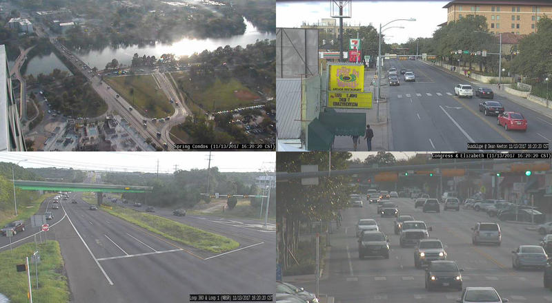 Still images from traffic cameras are updated once a minute.