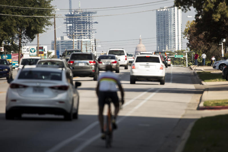 South Lamar Boulevard is one of the nine corridors prioritized by the city for bike- and pedestrian improvements under the 2016 mobility bond.