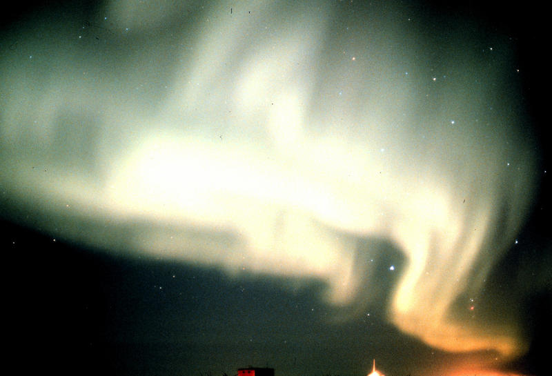Aurora Australis. Antarctica, South Pole Station. Photographer: Commander John Bortniak, NOAA Corps.