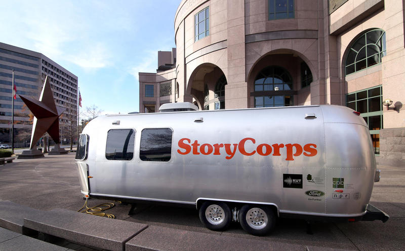 The StoryCorps MobileBooth returns to Austin in January 2018.