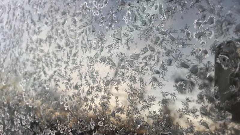 Did your windshield look like this this morning?