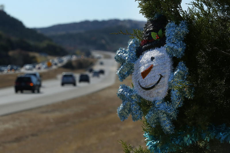 For the past several years, trees along Highway 360 have been decorated for Christmas.