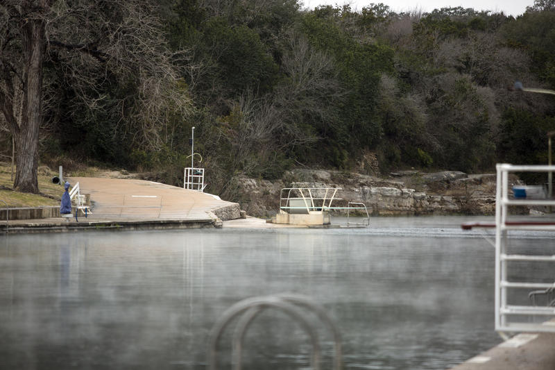 A cold front brought freezing temperatures, sleet and even a little snow to Austin on Tuesday.