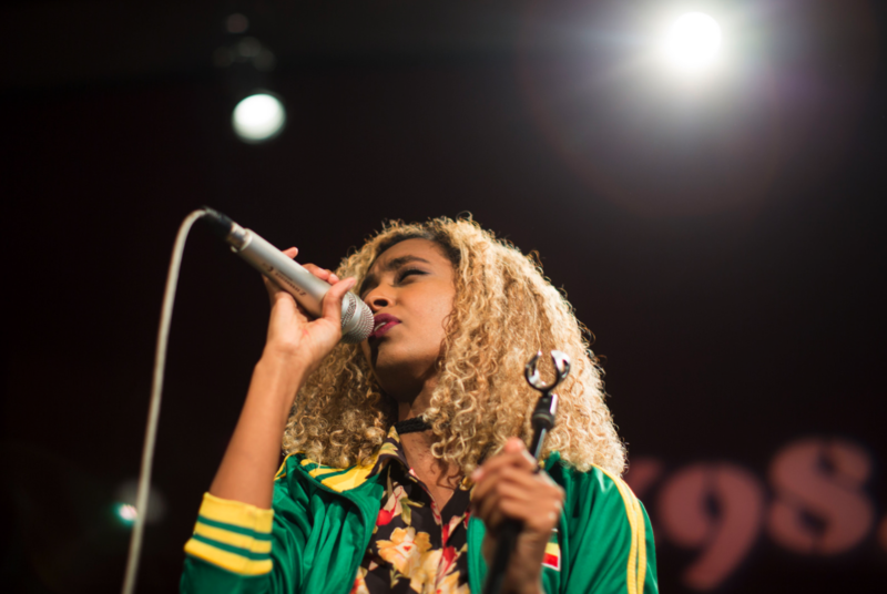 Mélat performing in Studio 1A on Feb. 9, 2018.