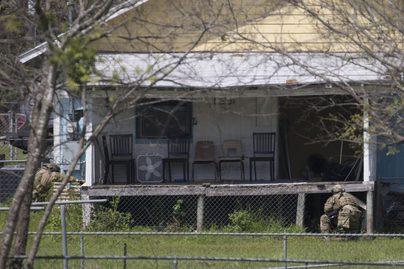 FBI, ATF, and other state and local law enforcement, including SWAT teams, surround and investigate the  home of suspect Mark Anthony Conditt, in Pflugerville on March 21.