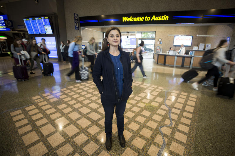 Arcelia Hernandez wanted to know why street names are misspelled on a map of Austin at the airport.