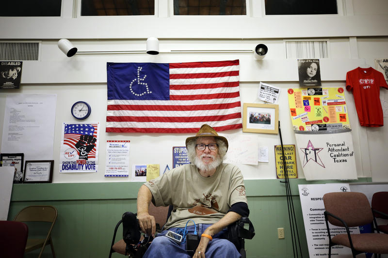 Bob Kafka, an organizer with ADAPT of Texas, surveyed members to find out how many had become disabled because of gun violence.