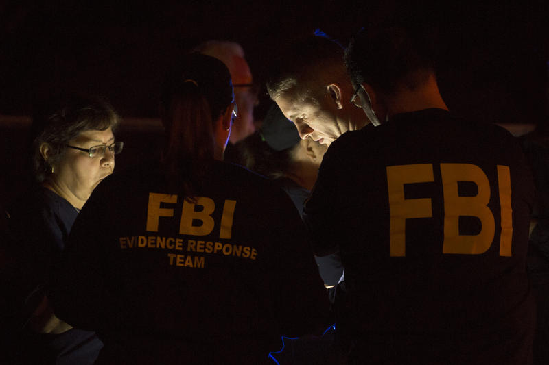 FBI agents respond to the scene of an explosion in Southwest Austin on Sunday.