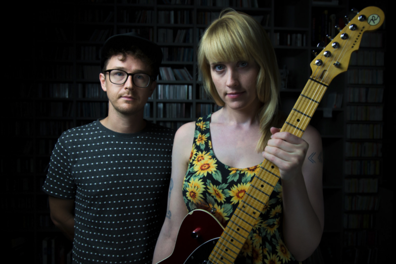 Baltimore duo Wye Oak poses after performing in studio at KUTX in 2016.