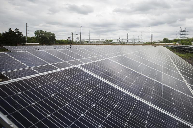 La Loma Community Solar Farm in East Austin holds enough solar panels to power 440 households.
